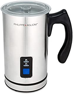 MatchaDNA Premium Automatic Milk Frother, Heater and Cappuccino Maker, Silver Carafe Jug