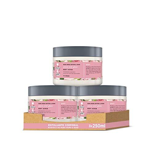 Love Beauty and Planet Exfoliante Corporal para Piel seca, Manteca de Murumuru y Rosa Vegano - Pack de 3 x 250 ml (Total: 750 ml)