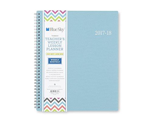 """Blue Sky Planner PP Teacher Chevron 8.5x11"""" AY 17/18 Weekly/ Monthly Wirebound (100334)"""