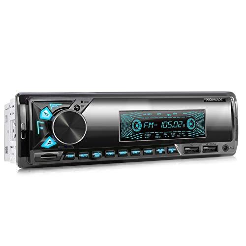 XOMAX XM-R278 Autoradio mit FM RDS, Bluetooth Freisprecheinrichtung, USB, SD, MP3, AUX-IN, 1 DIN