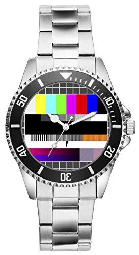 TV Testbild Geschenk Artikel Idee Fan Uhr 2728