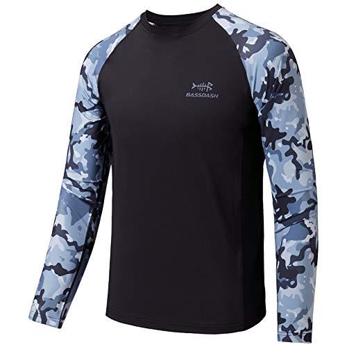 BASSDASH Youth UPF50+ Camo manga larga pesca camisa protección UV secado rápido Tee