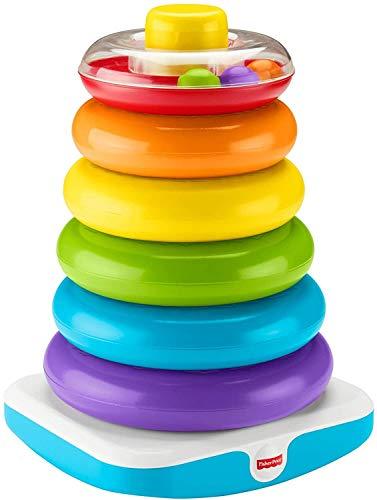 Fisher-Price GJW15 - Gigantische Farbring Pyramide, Stapelspielzeug mit Ringen für Babys und Kleinkinder, Baby Spielzeug ab 1 Jahr