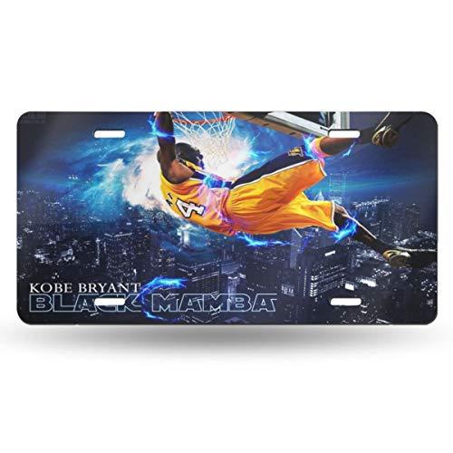 "Cq76 Kobe Bean Bryant Car License Plate Retro License Plates License Plate Tag 6"" X 12"" Inch"