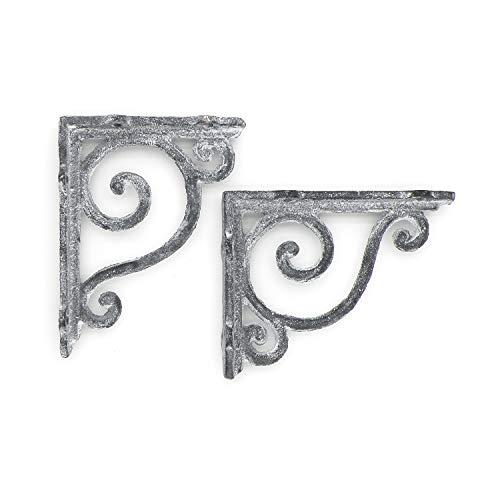 Regalwinkel Regalhalter Regalträger Wandkonsole Konsole Antik Retro Shabby Regal 10 x 12 cm Grau