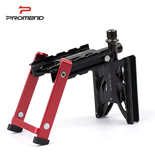 PROMEND PD-M72 Ultraleichte Aluminiumlegierung Mountainbike Pedal Freitragende Teleskop Fahrradhalterung, Magnetische Schrumpfen