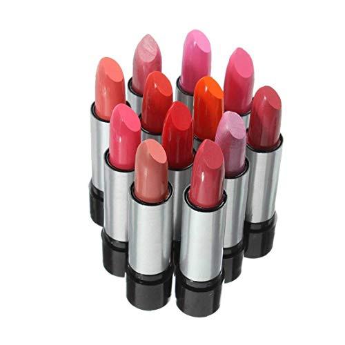 12 Piezas de lápiz Labial Conjunto Mate Liquid Lip Gloss Labial Impermeable No asustado de Kissing, Beber, Natación 12 Color