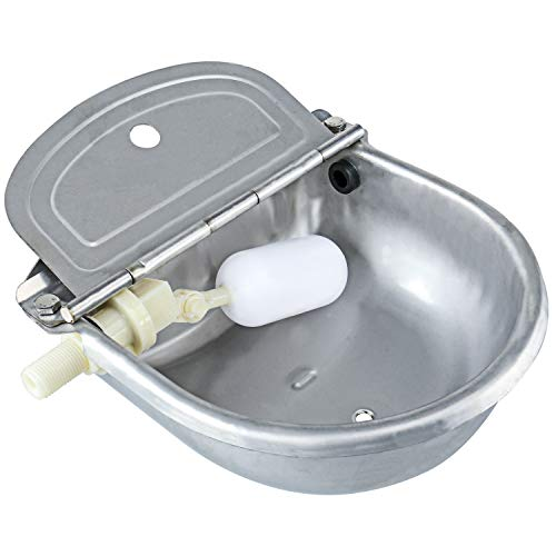 Homend Upgraded Automatic Waterer Bowl Farm Grade Stainless Stock Waterer Horse Cattle Goat Sheep Dog Water (with Drainage Hole)