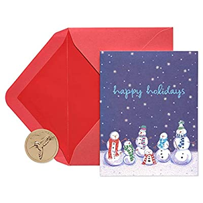 Papyrus Christmas Cards Boxed, Happy Holidays Snowmen (20-Count)