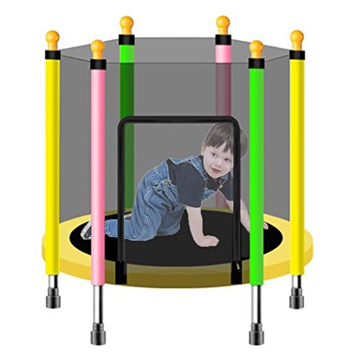 LXXTI Trampoline with Net for Kids, Mini Trampoline for Kids Outdoor, Trampoline with Safety Enclosure Net And Spring Cover Padding, for Kids,140cm/55inch