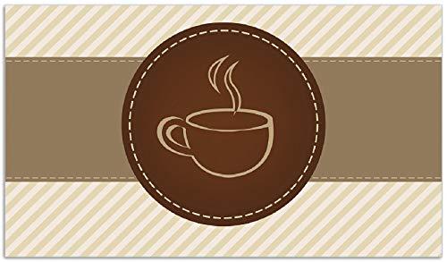 Wallario Herdabdeckplatte/Spritzschutz aus Glas, 1-teilig, 90x52cm, für Ceran- und Induktionsherde, Kaffee-Menü - Logo Symbol für Kaffee