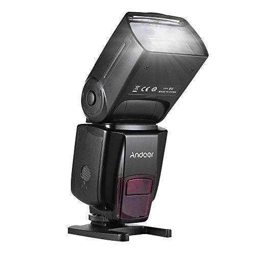 Andoer Flash Speedlite per Canon Nikon 2.4G Wireless Slave Speedlite Universale Compatibile con Fotocamere DSLR Sony Panasonic Pentax Olympus