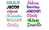 Name or Word Decal - Personalized - Solid and Glitter Color Choices - Custom - Choose Size, Font, and Color - Adhesive Die Cut Vinyl Lettering for Cup, Tumbler, Car Window, Laptop, Boat, Vehicle