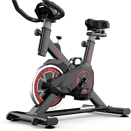Yingm Fitness en Cualquier Momento Bicicleta de Spinning silenciosa Bicicleta estática Cubierta Sports Bike Home Fitness Equipment Práctica Bicicleta Estática (Color : Black, Size : 85x45x110cm)