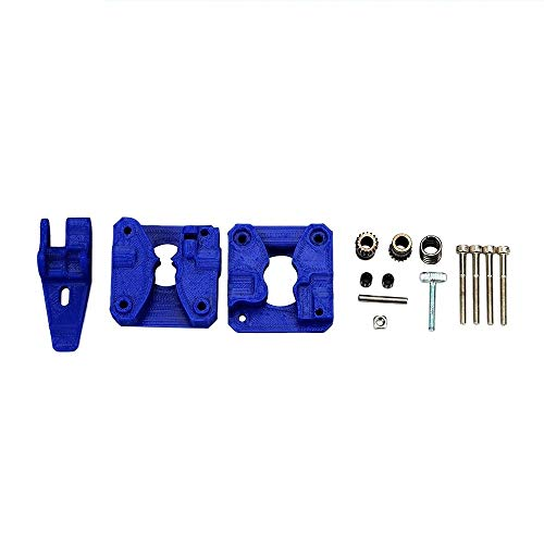 HUANRUOBAIHUO 1set Drivegear Kit Dual Drive Gear Extruder Kit Blue for Cloned Btech Upgrade For Prusa i3 3D Printer Gear Mini Bowden Extruder Extruders Components (Size : ALL sit)