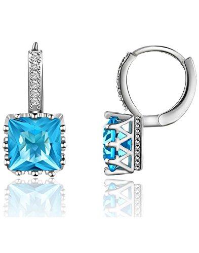 Karatcart Platinum Plated Austrian Crystal Blue Work Wear Earrings for Women Price in India