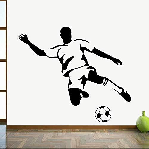 HGFDHG Pegatina de Pared de fútbol Juvenil Art Deco fútbol Vinilo Pared calcomanía hogar Sala de Estar jardín de Infantes niño decoración de habitación de niños