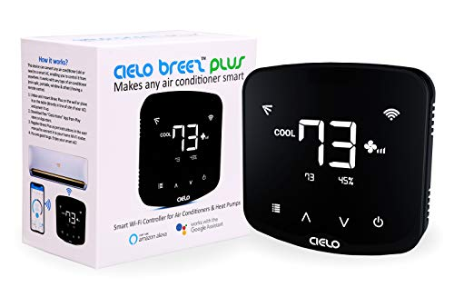 Cielo Breez Plus Smart AC Controller | Works with Mini Split, Window & Portable ACs | WiFi, Alexa, Google Home, iOS, Android & Web | Schedules, Geofencing & Temperature Triggers for Air Conditioner
