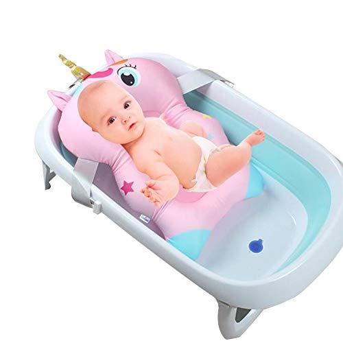 Per Asientos de Bañera para Bebés Cojines Antideslizantes de Ducha Infantiles Hamacas Infantiles de Bañera para Bebés Recién Nacido Forma de Unicornio
