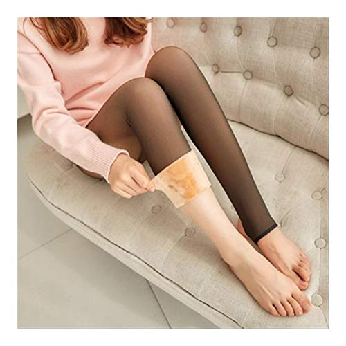 Leggings de invierno gruesas legins Mujeres través de la carne caliente pantalones polainas de las mujeres calientes de malla Leggins for las mujeres Skinny ( Color : Thick Socks , Size : One Size )