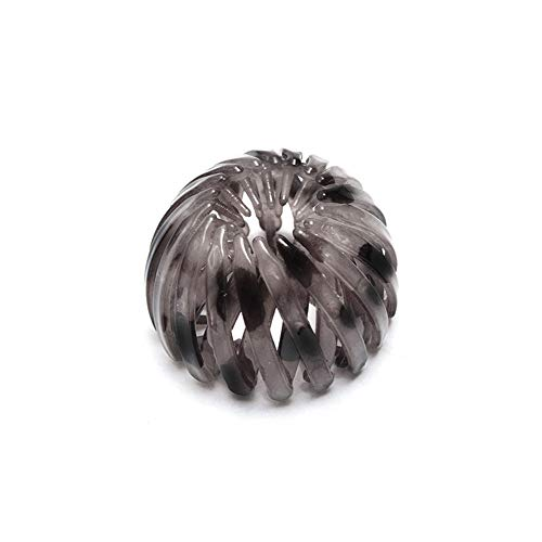 Bird Nest Shaped Hair Clips Hair Claw Clamps Bun Makers Expandable Ponytail Holder Hair Accessories for Women and Girls(Dark Coffee)