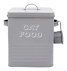 Lesser & Pavey Classic Cat Food Storage Tin with Scoop