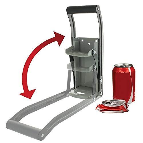 Trituradora de Latas de Aluminio/Abrebotellas de Acero 2 en 1,Trituradora de Latas Fácil Reciclador de La Trituradora de Latas de Montaje en Pared de Alta Resistencia,Latas de Cerveza de Aluminio.