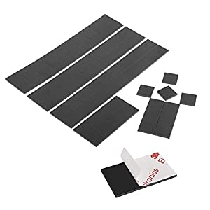 Tougo 80 Pack Strong Anisotropic(Hold 100g) Self-Adhesive Magnet Squares,Magnetic Strip (20x20x2mm)-Perfect for Classroom Organization,Refrigerator Crafts,DIY Projects