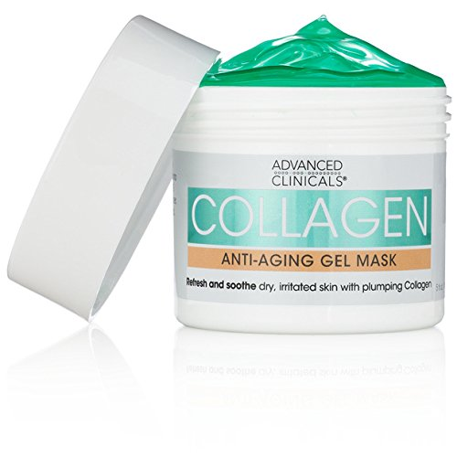 Advanced Clinicals Collagen Anti-Aging Gel Mask with Coconut Oil and...