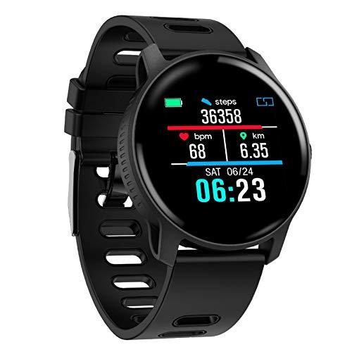 JIAYU Adecuado for su Android4.4 y Ios90 elegante GPS Relojes, con pantalla de 1,3 pulgadas Una Ips Ronda táctil, al aire libre rastreador de ejercicios, IP67 a prueba de agua inteligente Reloj Blueto
