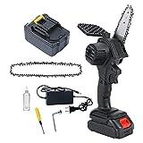 HYDT Mini Motosierra, Cadena eléctrica de la Cadena portátil, una Mano, máquinas de cizallas de poda para Ramas de árbol, Corte de Madera y jardín Chain Saw 5