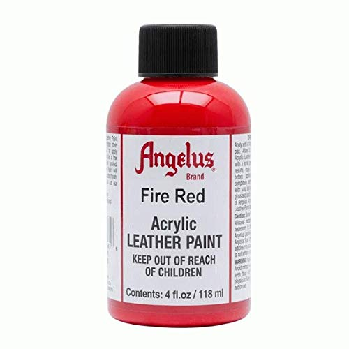 Angelus Leather Paint 4 oz Fire Red