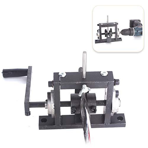 Denudeur cable electrique,Kecheer Perceuse électrique manuelle Machine à dénuder les câbles à double usage Décapant pour