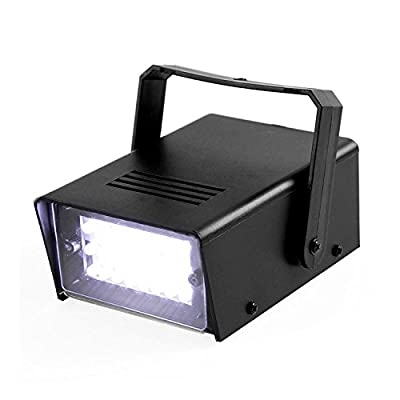ENUOLI Mini LED Strobe Light White Color with 24 Super Bright LEDs Variable Speed Control for Christmas Clubs Stage Light Effect DJ Disco Bars Parties Halloween (White Color)