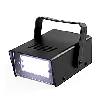 ENUOLI Mini LED Strobe Light White Color with 24 Super Bright LED Variable Speed Control for Christmas Clubs Stage Light Effect DJ Disco Bars Parties Halloween  White Color