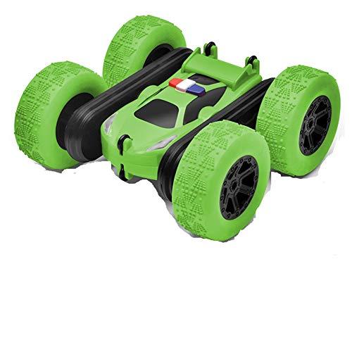 BAOZUPO Control Remoto Coche, RC Cars Stunt Coche de Juguete con Spray Nitroso, Doble Cara 360 ° rotativo RC Stunt Coche, Cumpleaños de los niños Coches de Juguete para niños (Color : Verde)