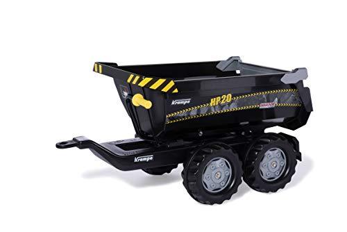 Rolly Toys Krampe RollyHalfpipe HP20 - Pour enfants de 3 à 10 ans - Remorque à deux axes - Avec fonction d'inclinaison - Noir