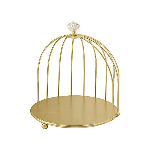 BHSHUXI Estante cosmético jaula de pájaro organizador de escritorio Rack,Birdcage bandeja de baño escritorio estante cosmético para tocador de baño encimera