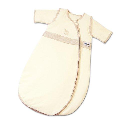 Gesslein Bubou Sensitive Temperaturregulierender Ganzjahreschlafsack/Schlafsack für Babys/Kinder, Größe 110, Natur mit einem Schaf