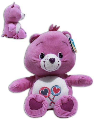 Teile-gern-Bärchi 32/42cm Teddybär Plüschtier Die Glücksbärchis Care Bears Lila Lutscher Bär