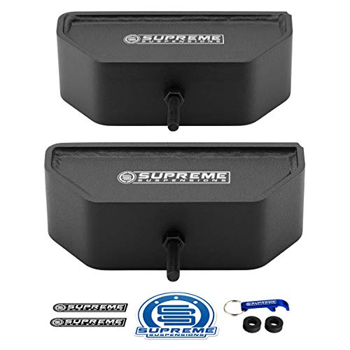 """Supreme Suspensions US Patent Pending Front Lift Blocks for 1980-2004 Ford F250 / F350 Super Duty 4WD 