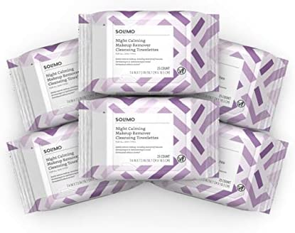 Solimo Make Up Remover Wipes Night Calming 25ct Pack of 6 product image