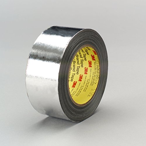 3M Aluminium-Glasgewebe-Klebeband, 363, 25,4 mm x 33 m, 0,2 mm, Silber (36-er Pack)
