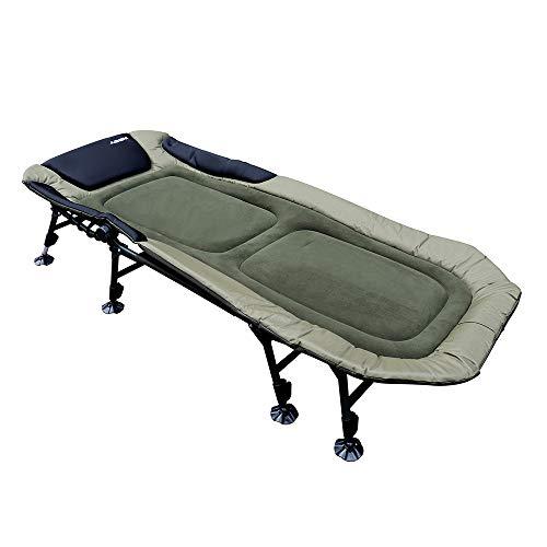 AGEM Angelliege Karpfenliege 8 Bein XXL Campingbett Karpfen Gartenliege 150kg Carp Bedchair Liege Camping Bed