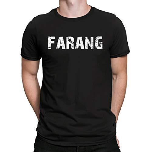 CreativeIdeas Farang, T Shirt Uomo Manica Corta T-Shirt Maglietta per Uomo, Nero