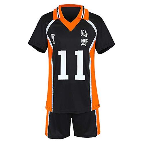 TUMUSKER Haikyuu - Traje de cosplay para la escuela secundaria y el equipo de voleibol uniforme para Karasuno Sportwear Jersey (Kei Tsukishima, l, l)