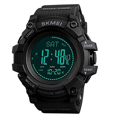 LOVOVR Inteligente, reloj con altímetro / barómetro / termómetro / Brújula / Pronóstico del Tiempo Beige