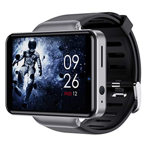 DM101 4G Smart Watch 2.4G + 5G WiFi BT SmartWatch 2.41 Pulgadas Pantalla táctil Android 7.1 3GB + Cámara Dual de 32 GB 5MP + 2MP SmartWatch,A,3+32G