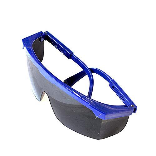 aoory Schutzbrille für Herren, stoßfest, Winddicht, Schutzbrille für Männer Blue-Black