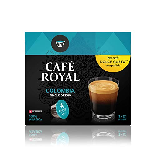 Café Royal Single Origin Colombia 48 Nescafé Dolce Gusto kompatible Kapseln (Intensität 3/10) 3er Pack (3 x 16 Kaffeekapseln)